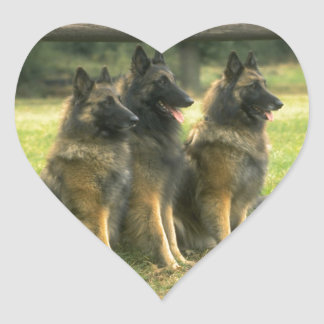 German Shepherd Gifts Heart Sticker