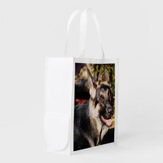 German Shepherd Grocery Bag