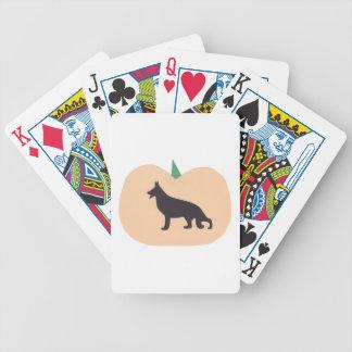 German Shepherd Halloween Playing Cards