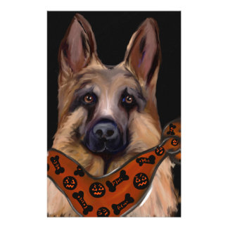 German Shepherd Halloween Stationery