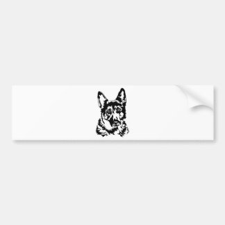 GERMAN SHEPHERD HEAD BUMPER STICKER