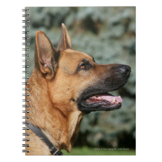 German Shepherd Headshot 1 Spiral Note Book