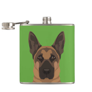 German Shepherd Hip Flask