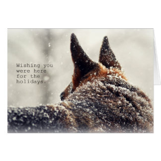 German Shepherd Holiday Card