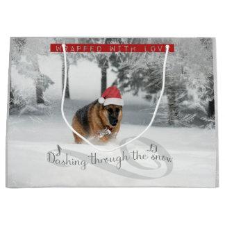 German Shepherd Holiday Gift Bag