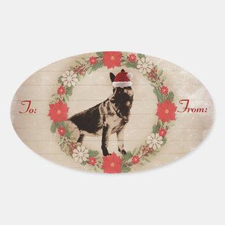 German Shepherd Holiday Gift Tags