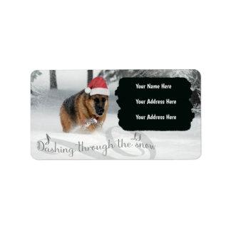 German Shepherd Holiday Label