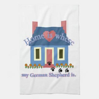 German Shepherd Home Is Kitchen Towel