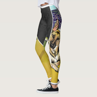 German Shepherd, Honolulu Hawaii (Add Pet Name) Leggings