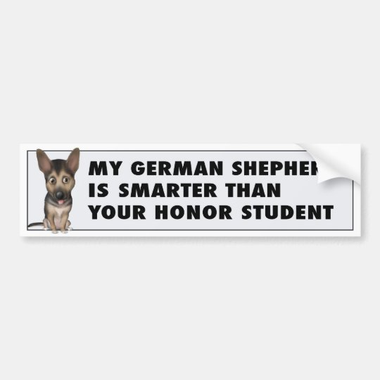 German Shepherd Honour GS1 Bumper Sticker