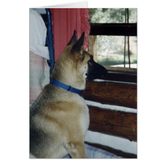 German Shepherd Hope to See You Greeting Card