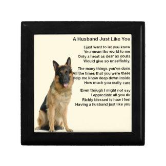 German Shepherd  Husband Poem Gift Box