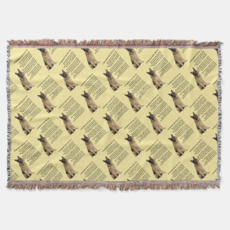 German Shepherd  Husband Poem Throw Blanket