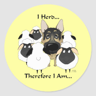 German Shepherd - I Herd...Therefore I Am Stickers