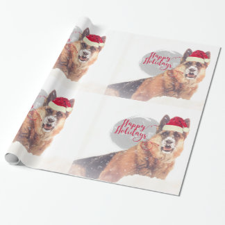 German Shepherd in the Snow Holiday Gift Paper