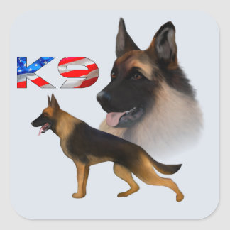 German Shepherd K9 Square Sticker