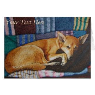 german shepherd labrador mixed breed dog portraits card