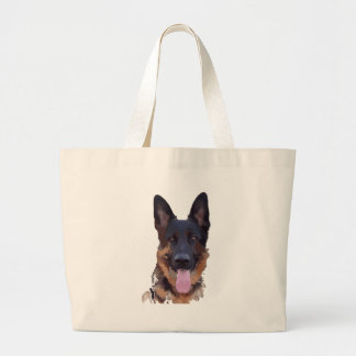 German shepherd large tote bag