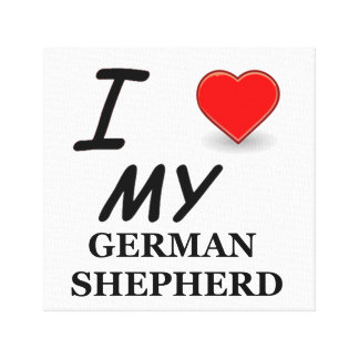german shepherd love canvas print