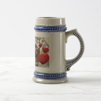 German Shepherd Love Gray/Blue 18 oz Stein