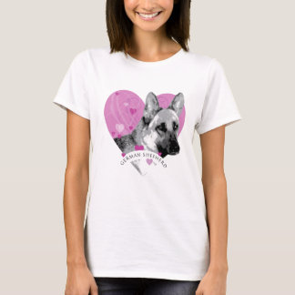 German Shepherd Love Heart T-Shirt