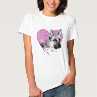 German Shepherd Love Heart Tshirt