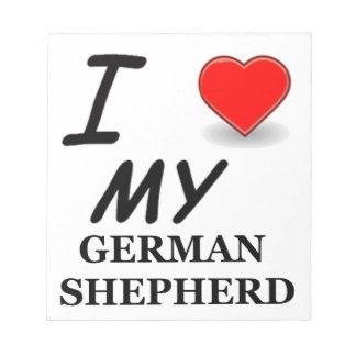 german shepherd love notepad