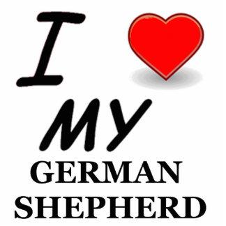 german shepherd love photo sculpture keychain