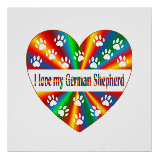 German Shepherd Love Poster