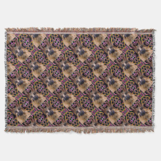 German Shepherd Mardi Gras Throw Blanket