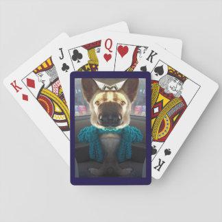 German Shepherd Mirrored Distortion Playing Cards