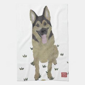 German Shepherd, Modern Dog Art Hand Towel