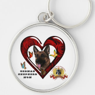 German Shepherd Mom Keychain