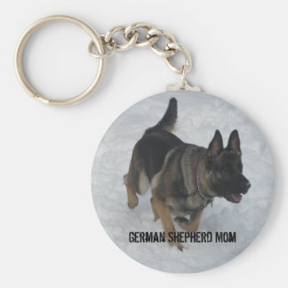 German Shepherd Mom Keychain