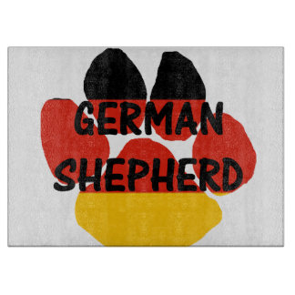 german shepherd name paw germany-flag paw cutting board