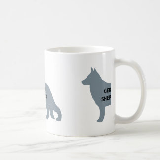 german shepherd name silo blue coffee mug