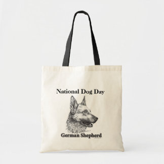 German Shepherd National Dog Day Tote Bag