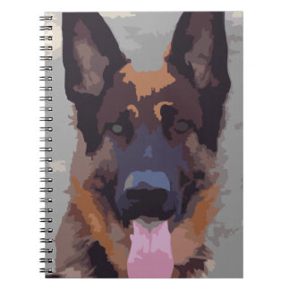 German shepherd notebook