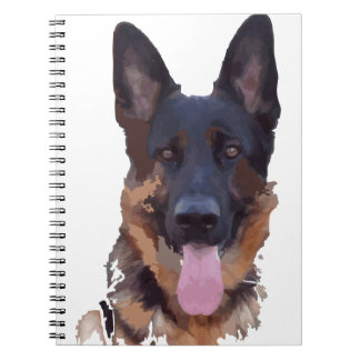 German shepherd notebooks