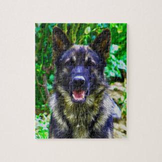 German Shepherd Oil Painting Portrait Jigsaw Puzzle