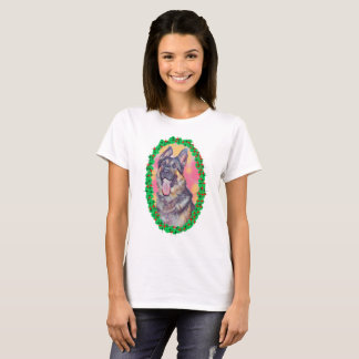 German Shepherd Oval design Shirt