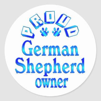 German Shepherd Owner Classic Round Sticker