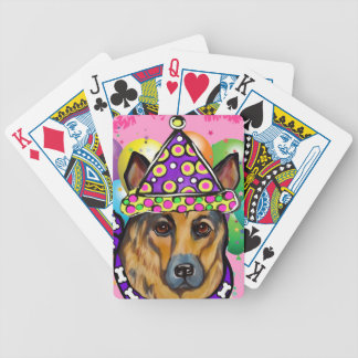 German Shepherd Party Dog Bicycle Playing Cards