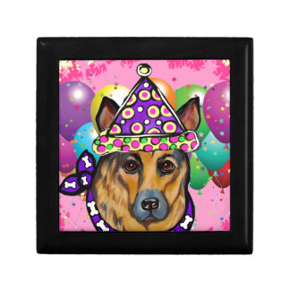 German Shepherd Party Dog Gift Box
