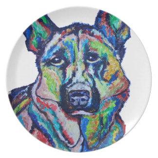 German Shepherd Party Plate