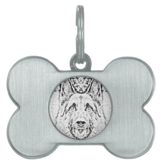 German shepherd pet ID tag