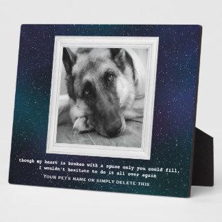German Shepherd Pet Memorial with Your Photo Plaque