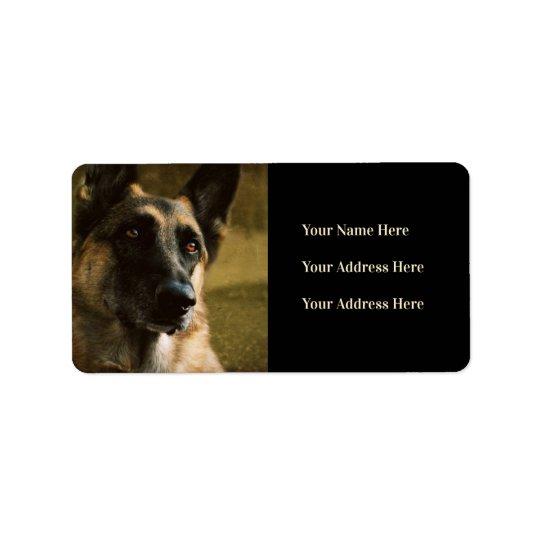 German Shepherd Photo Address Labels