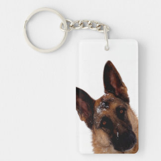 German Shepherd Photo Keychain