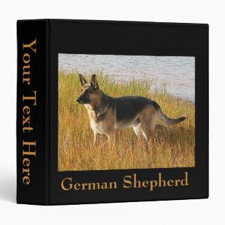 "German Shepherd Photo on 2"" Binder"
